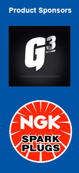 product sponsors G3 Pro Formula and NGK