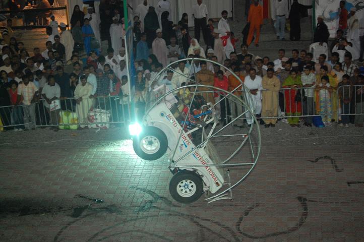 car stunt Muscat Festival