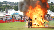 fire motorcycle stunt
